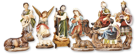 2.75 inch - 11 Figure Resin Nativity Set.