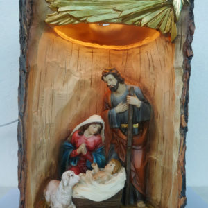 11.5 cm Holy Family Nativity Set With Light