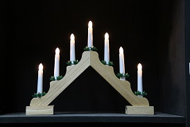 7 Light Wooden Candle Bridge