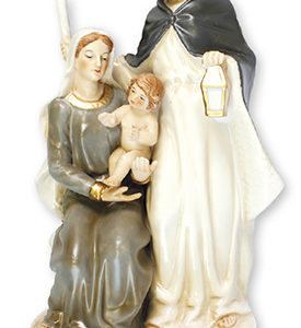 9 inch Nativity Set - Glazed Porcelain - Holy Family