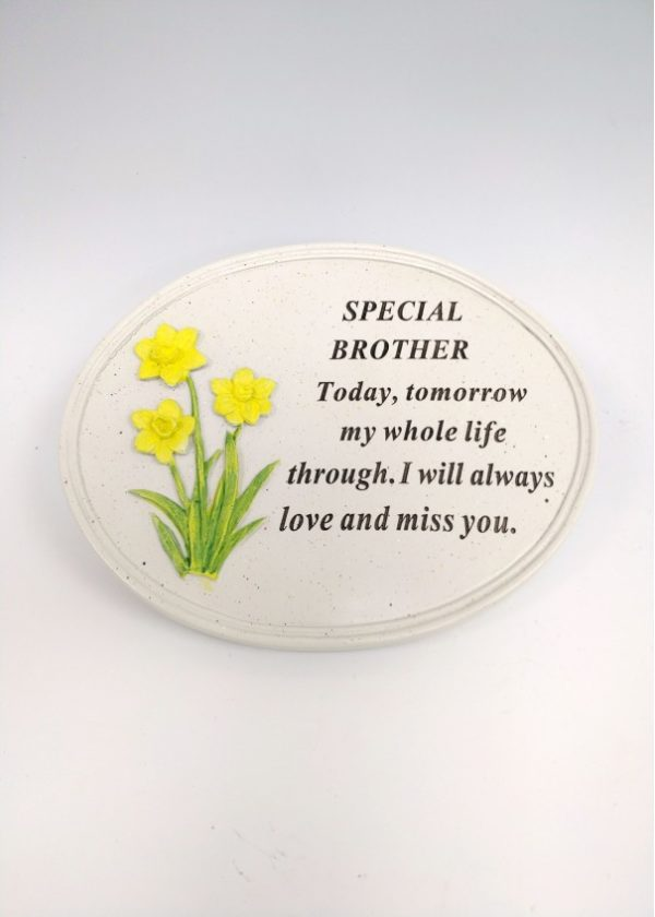 Brother Daffodil Oval Plaque 1