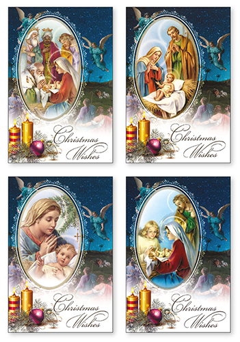 Box of Christmas Cards - Christmas Angel Box of 18 Cards with 4 Designs