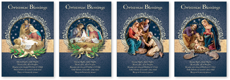Box of Christmas Cards - Christmas Blessings Box of 18 Cards with 4 Designs