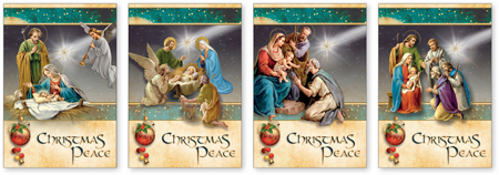 Box of Christmas Cards – Christmas Blessings Box of 18 Cards with 4 Designs 1