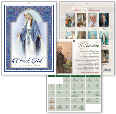 Church Art Calendar 2019