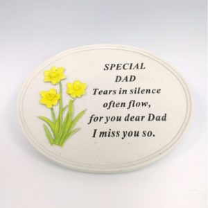 Dad Daffodil Oval Plaque
