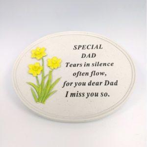 Dad Daffodil Oval Plaque