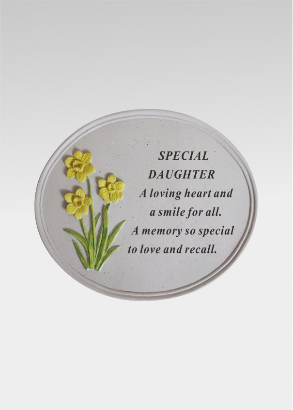 Daughter Daffodil Oval Plaque