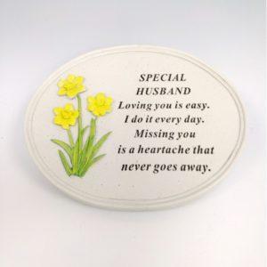 Husband Daffodil Oval Plaque