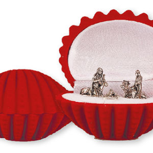 Miniature Nativity Set of 5 Figures in Shell Shaped Display Box