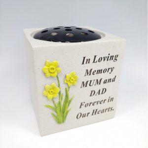 Mum & Dad Daffodil Rose Bowl.