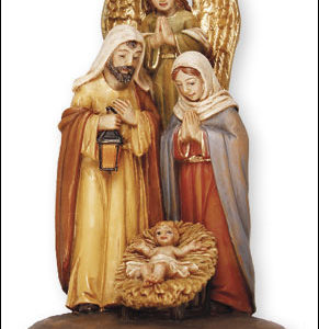 "3"" Holy family Nativity Scene. Handpainted Resin."