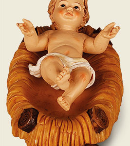 "Resin Baby Jesus & Manger 3 """