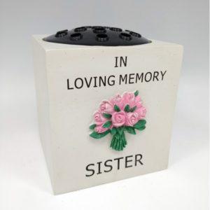 Sister Pink Flower Rose Bowl.