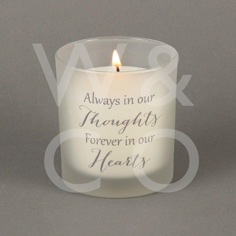 Thoughts Of You - Always in Our Thoughts - 150G Candle.