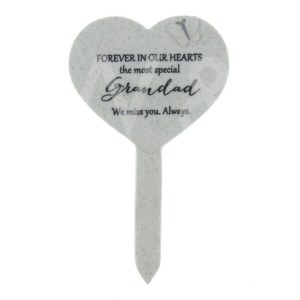 Thoughts Of You - Grandad - Heart Graveside Stake.