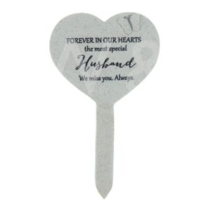Thoughts Of You - Husband - Heart Graveside Stake.
