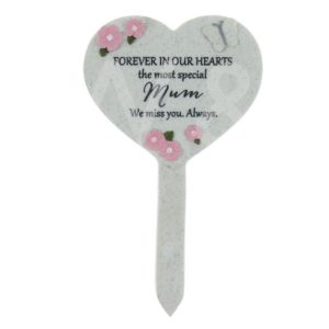 Thoughts Of You - Mum - Heart Graveside Stake.