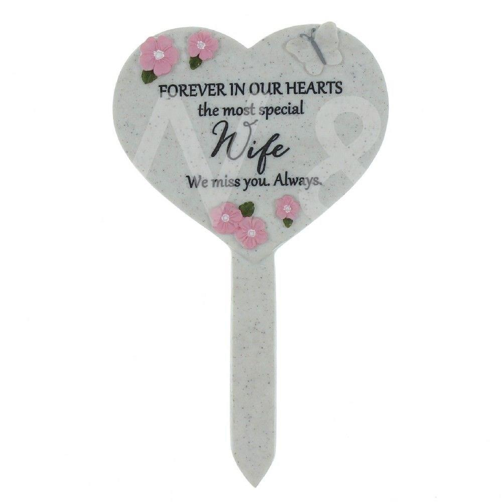 Thoughts Of You - Wife - Heart Graveside Stake.