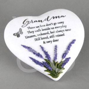 Thoughts of You  Heart Stone - Grandma - Memorial Stone.