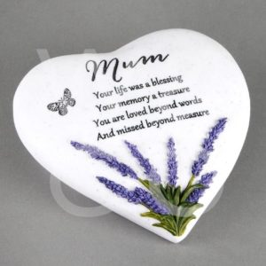 Thoughts of You  Heart Stone - Mum - Memorial Stone.
