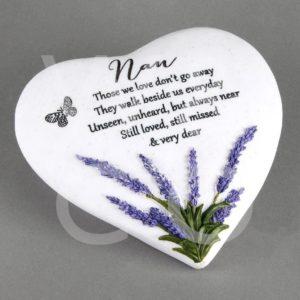 Thoughts of You  Heart Stone - Nan - Memorial Stone.