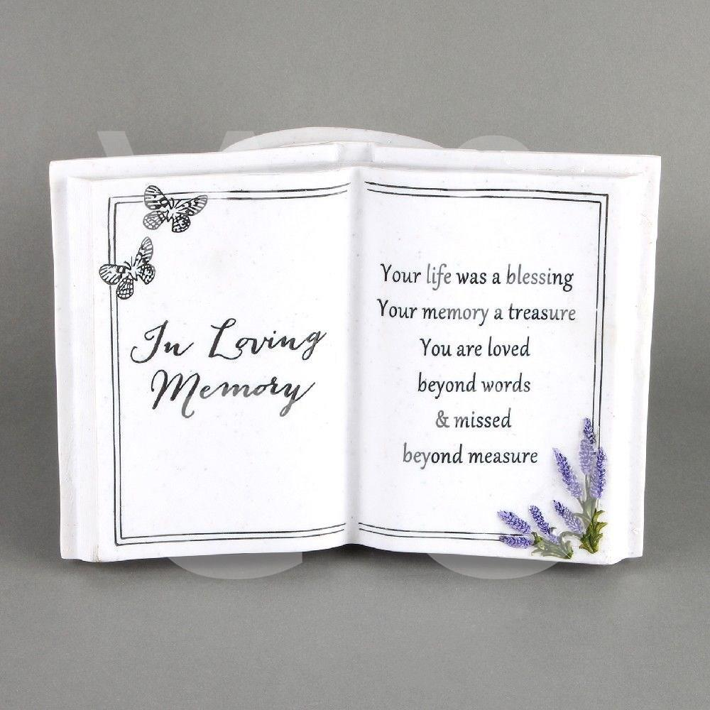 Thoughts of You - In Loving Memory -  Graveside Book Vase.