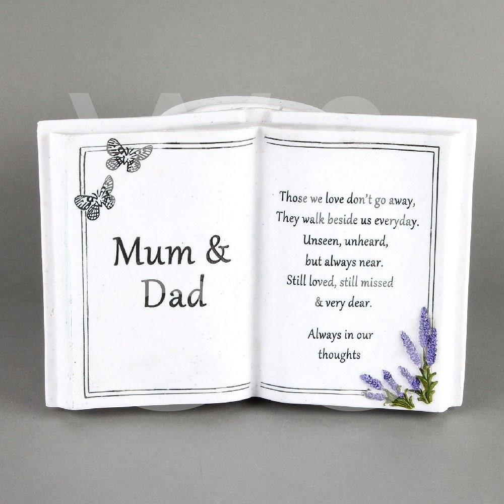 Thoughts of You - Mum & Dad -  Graveside Book Vase.