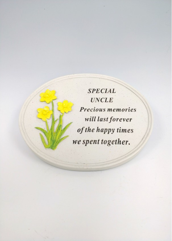 Uncle Daffodil Oval Plaque