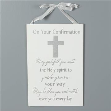 Confirmation - Celebrations Hanging Plaque