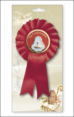 Confirmation Rosette with Pearl Medal