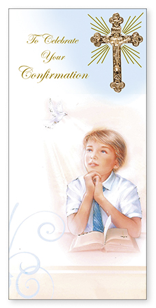 Confirmation Boxed Boy Card