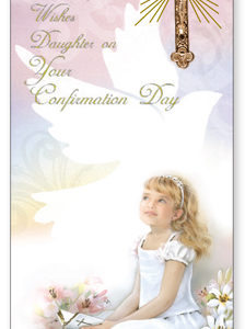 Confirmation Boxed Girl Card - Daughter