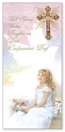Confirmation Boxed Girl Card – Daughter
