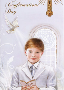 Confirmation Boxed Card - Grandson