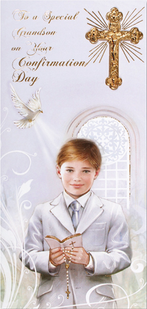 Confirmation Boxed Card – Grandson