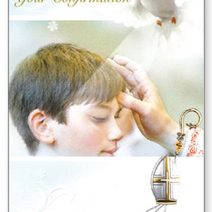 Confirmation Card with Insert - Boy