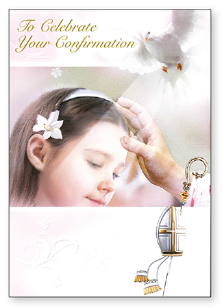 Confirmation Card with Insert - Girl