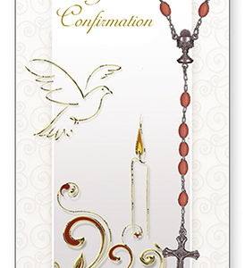 Confirmation Card & Rosary Set - Symbolic