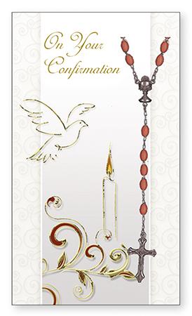Confirmation Card & Rosary Set – Symbolic