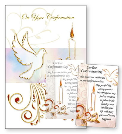 Confirmation Card with Symbolic Laminated Leaflet