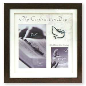 Confirmation Photo Frame - Brown Finish - Symbolic