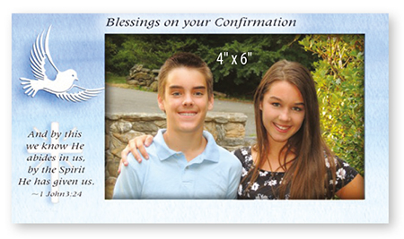 F46392 Confirmation Art Metal Photo Frame
