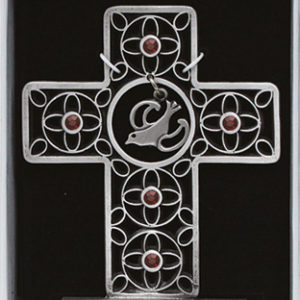 Standing 3 inch Cross - Confirmation with Crystals