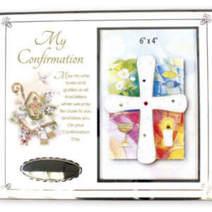 Confirmation Metal Photo Frame - Symbolic