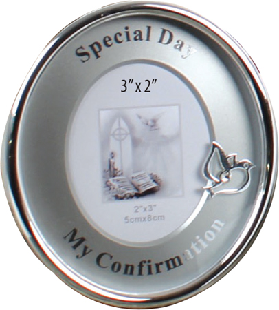 Metal Photo Frame - Silver Finish - Confirmation