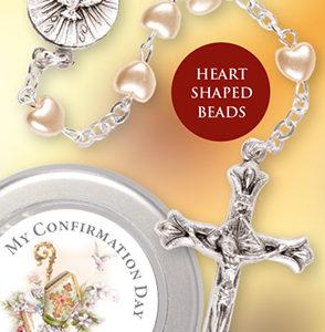 Confirmation Rosary Bead Imitation Pearl