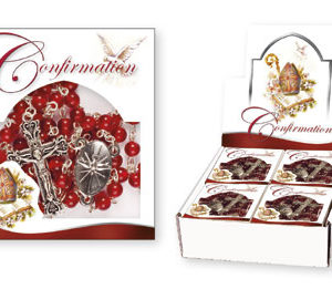 RUBY Confirmation Acrylic Rosary - Ruby
