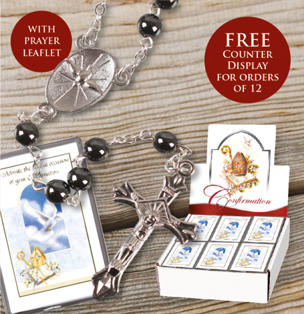Confirmation Glass Rosary -