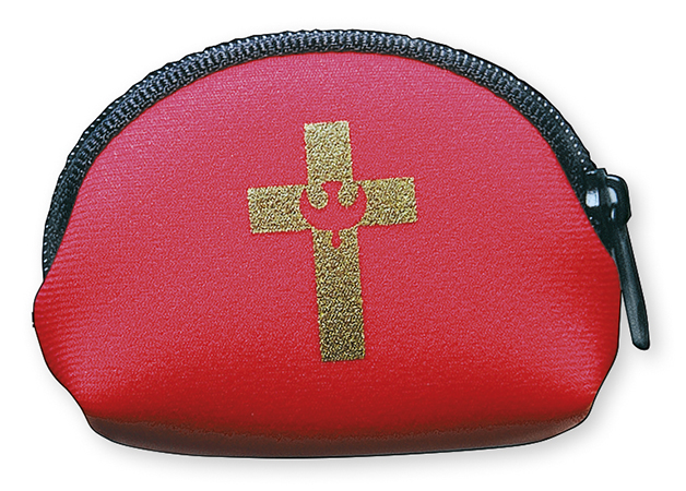 Confirmation Foam Rosary Purse - Red